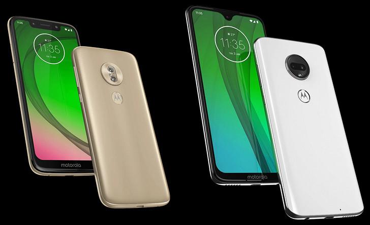 Moto G7, Moto G7 Plus Moto G7 Play и Moto G7 Power. Изображения и европейские цены смартфонов