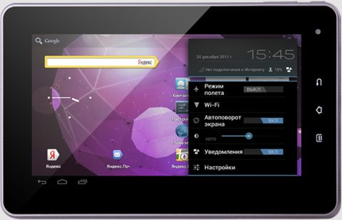 Android ICS планшет teXet TM-7025