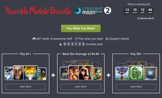 Humble Mobile Bundle: Crescent Moon - получи 11 игр для Android  за символическую цену