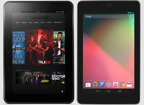 Kindle Fire HD проотив nexus 7
