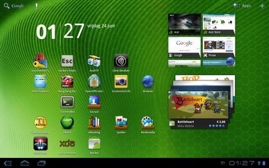 Android 3.1 для Acer Iconia Tab A500