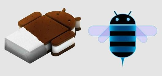 Android 4 Ice Cream Sandwich vs Android 3 Honeycomb